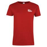 Bookstore Ladies Red T Shirt-SEMO Logo for Vinyl