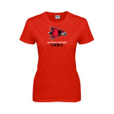 Ladies Red T Shirt-Tennis
