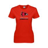 Ladies Red T Shirt-Gymnastics
