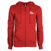 Bookstore ENZA Ladies Red Fleece Full Zip Hoodie-SEMO Logo for Vinyl