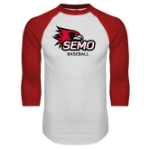 Bookstore White/Red Raglan Baseball T Shirt-Baseball