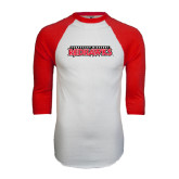 White/Red Raglan Baseball T-Shirt-Southeast Missouri Redhawks