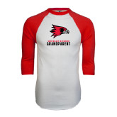 White/Red Raglan Baseball T-Shirt-Grandparent