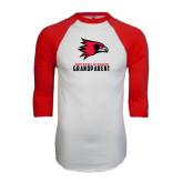 White/Red Raglan Baseball T-Shirt-Grandparent