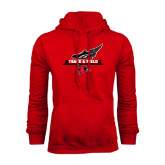 Red Fleece Hoodie-Track and Field Side Design