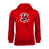 Red Fleece Hoodie-Volleyball Stars Design