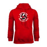 Red Fleece Hoodie-Volleyball Stars Design