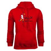 Red Fleece Hoodie-Walk For Redhawks