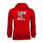 Red Fleece Hoodie-Cross Country Winged Shoe