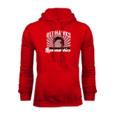 Red Fleece Hoodie-Redhawk Gymnastics Backflip