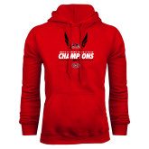 Red Fleece Hoodie-2017 OVC Mens Outdoor Track and Field Champions