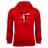 Red Fleece Hoodie-2017 OVC Mens Outdoor Track and Field Champions back to back