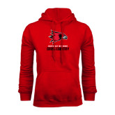 Red Fleece Hoodie-Cross Country
