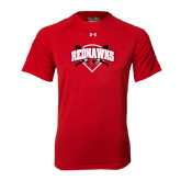 Under Armour Red Tech Tee-Softball Design w/ Bats and Plate