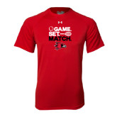 Under Armour Red Tech Tee-Tennis Game Set Match