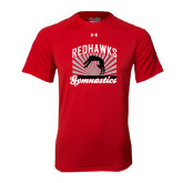Under Armour Red Tech Tee-Redhawk Gymnastics Backflip