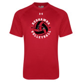 Bookstore Under Armour Red Tech Tee-Volleyball