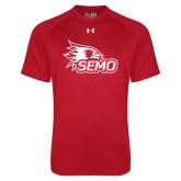 Bookstore Under Armour Red Tech Tee-SEMO Logo