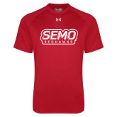 Bookstore Under Armour Red Tech Tee-SEMO Wordmark with Redhawks