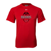 State Under Armour Red Tech Tee-Tall Football Design