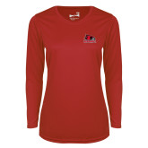 Bookstore Ladies Syntrel Performance Red Longsleeve Shirt-Primary Logo