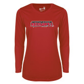 Bookstore Ladies Syntrel Performance Red Longsleeve Shirt-Southeast Missouri Redhawks