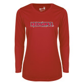 Bookstore Ladies Syntrel Performance Red Longsleeve Shirt-Redhawks