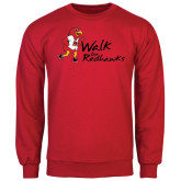 Red Fleece Crew-Walk For Redhawks