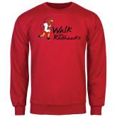 Red Fleece Crew-Walk For Redhawks