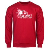Bookstore Red Fleece Crew-SEMO Logo