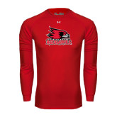 State Under Armour Red Long Sleeve Tech Tee-Official Logo