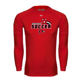 Under Armour Red Long Sleeve Tech Tee-Soccer Swoosh