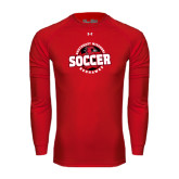 Under Armour Red Long Sleeve Tech Tee-Soccer Design