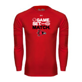 Under Armour Red Long Sleeve Tech Tee-Tennis Game Set Match
