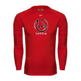 Under Armour Red Long Sleeve Tech Tee-Tennis Ball