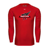 Under Armour Red Long Sleeve Tech Tee-Track and Field Side Design