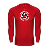 Under Armour Red Long Sleeve Tech Tee-Volleyball Stars Design