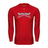 Under Armour Red Long Sleeve Tech Tee-Baseball Bats