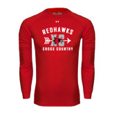 Under Armour Red Long Sleeve Tech Tee-Redhawks XC