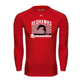Under Armour Red Long Sleeve Tech Tee-Redhawk Gymnastics Backflip