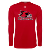 Bookstore Under Armour Red Long Sleeve Tech Tee-Primary Logo