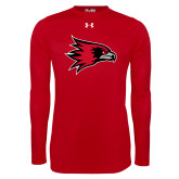 Bookstore Under Armour Red Long Sleeve Tech Tee-Hawk Head