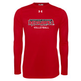 Bookstore Under Armour Red Long Sleeve Tech Tee-Volleyball