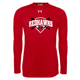 Bookstore Under Armour Red Long Sleeve Tech Tee-Softball