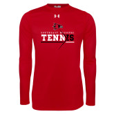 Bookstore Under Armour Red Long Sleeve Tech Tee-Tennis