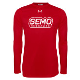 Bookstore Under Armour Red Long Sleeve Tech Tee-SEMO Wordmark with Redhawks