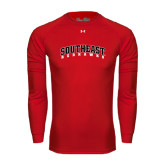 State Under Armour Red Long Sleeve Tech Tee-Southeast Redhawks
