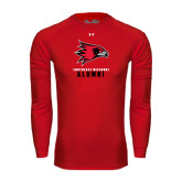 State Under Armour Red Long Sleeve Tech Tee-Alumni