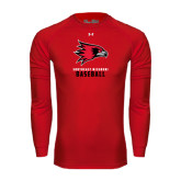State Under Armour Red Long Sleeve Tech Tee-Baseball