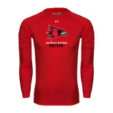 State Under Armour Red Long Sleeve Tech Tee-Soccer
